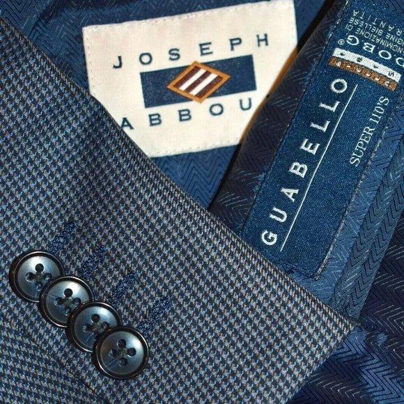 Joseph Abboud Other - $429 NWT 48R Joseph Abboud Metal Blue Plaid blazer